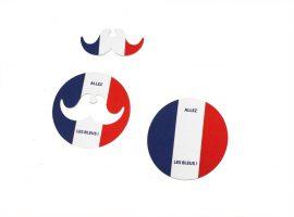 FS-4445 sous-verre + moustache France 2